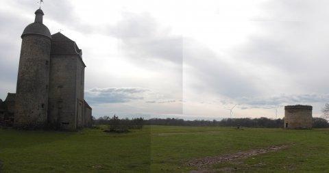 Photo montage château des Places